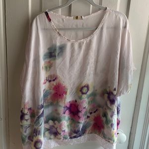 M for Bolide Floral Sequin Top